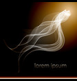Abstract smoke background isolated flow dynamic vector