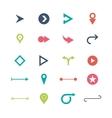 Arrow sign icon set simple circle shape internet vector