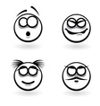 Cartoon of abstract emotions vector