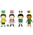 Fifa 2014 football players group a vector