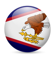 Round glossy icon of american samoa vector