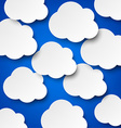 Paper white clouds on blue vector