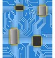 Seamless computer chipset background vector
