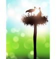 Stork nest vector