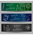 Back to school doodles on banners vector