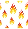 Flame fire seamless background vector