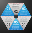 Progress icons for six steps vector