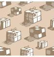Hand drawn boxes vector