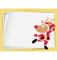 Reindeer and paper sheets vector