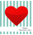 Postcard with red heart and strips vector
