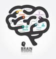 Infographics brain design diagram line style vector