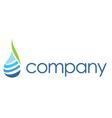 Spa logo  leaf water drop vector