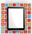 Black frame tablet pc with white screen vector