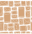 Seamless pattern - many craft envelopes vector