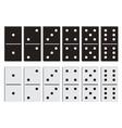 Domino black and white set vector