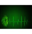 Top secret green background vector