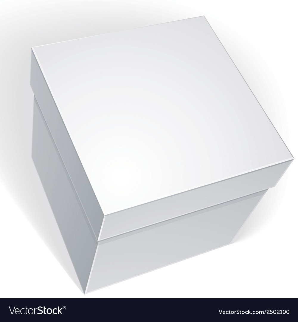 Blank box isolated on white background template vector | Price: 1 Credit (USD $1)