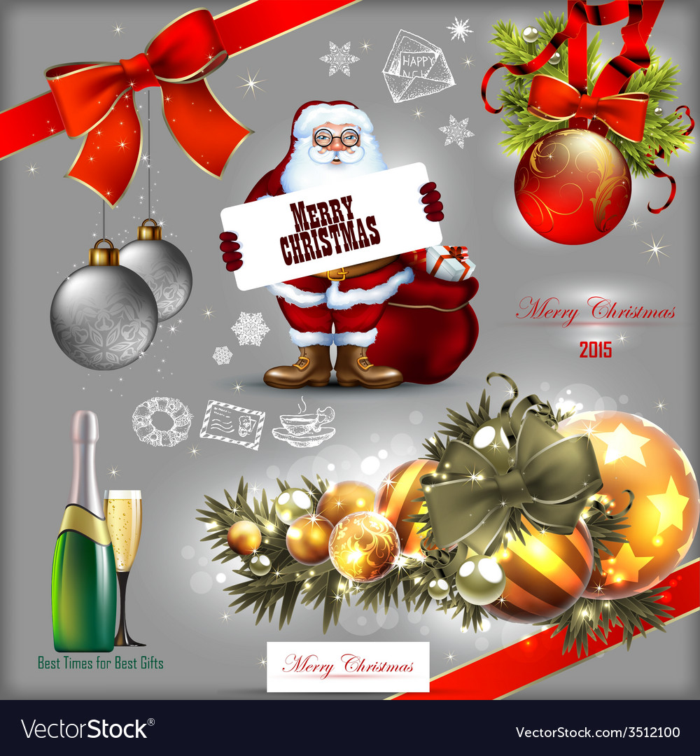 Christmas designs vector | Price: 3 Credit (USD $3)