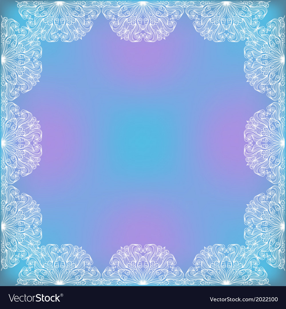 Decorative lacy frame vector | Price: 1 Credit (USD $1)