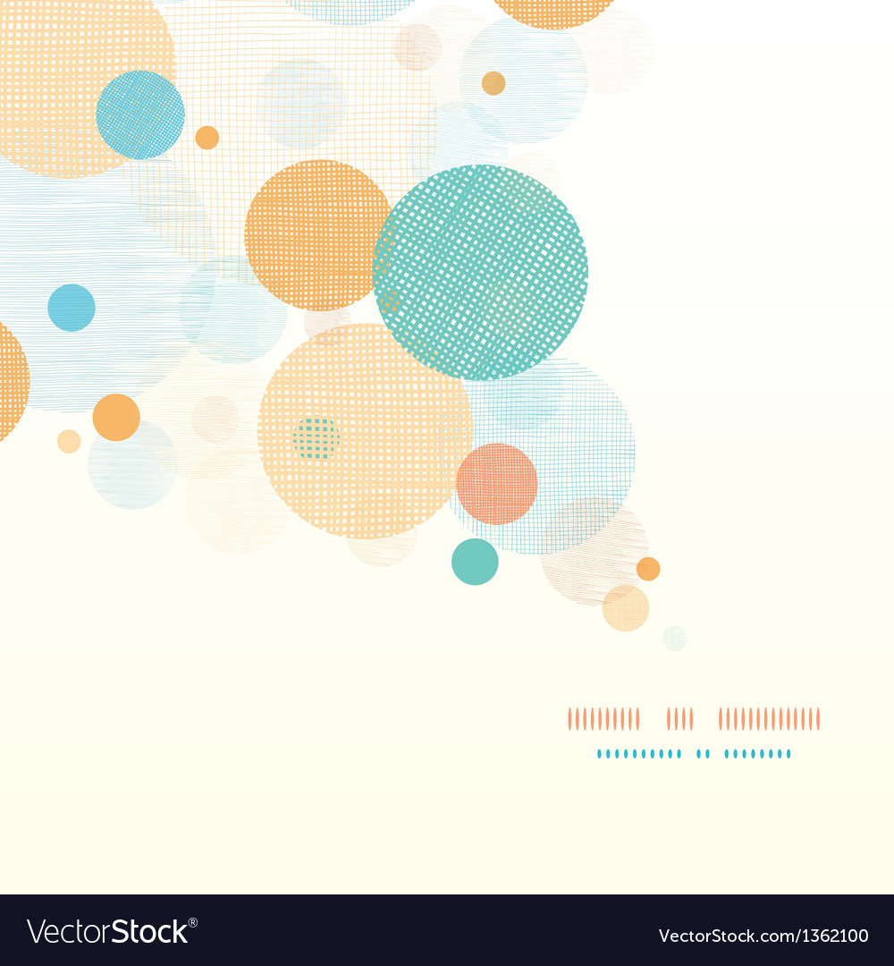 Fabric circles abstract diagonal pattern vector | Price: 1 Credit (USD $1)