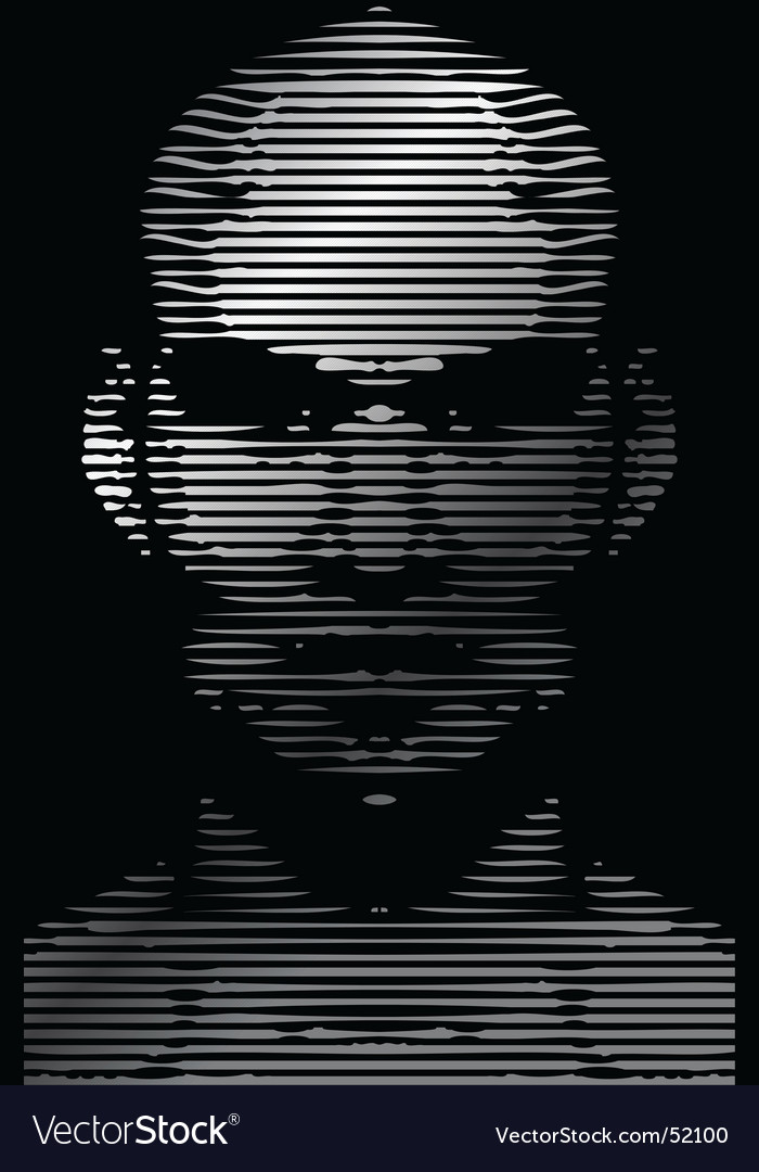 Face gridline vector | Price: 1 Credit (USD $1)