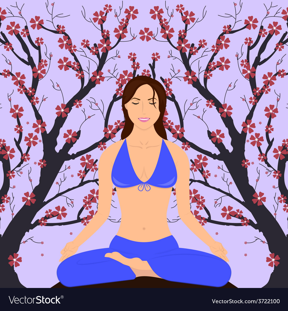 Girl in yoga pose vector | Price: 1 Credit (USD $1)