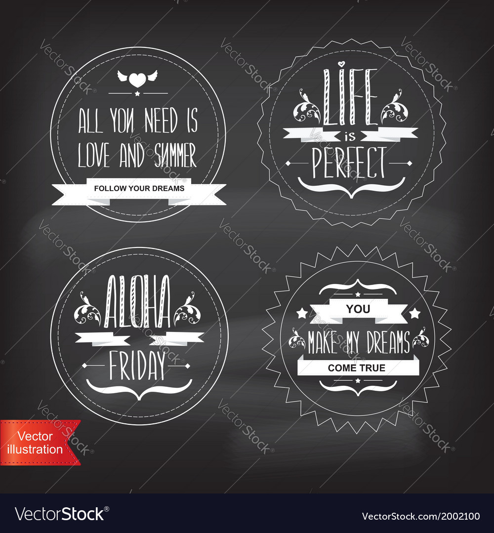 Set summer postertypography vector | Price: 1 Credit (USD $1)