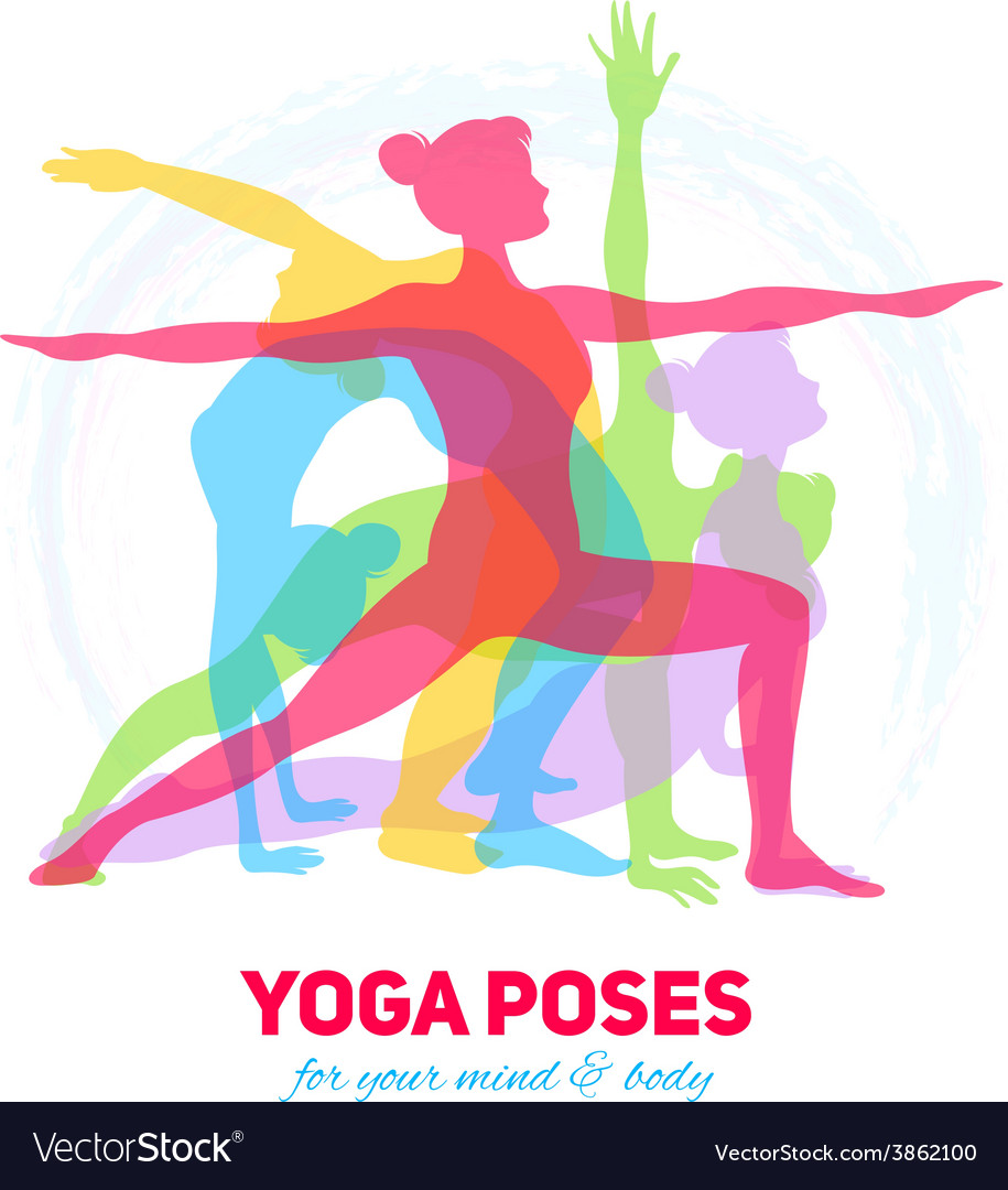 Yoga fitness concept vector | Price: 1 Credit (USD $1)