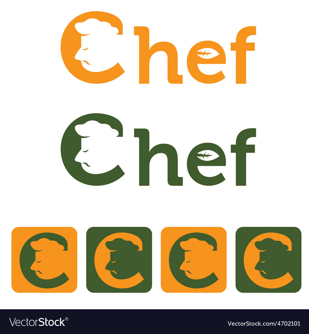 Chef and web icons set design template vector | Price: 1 Credit (USD $1)