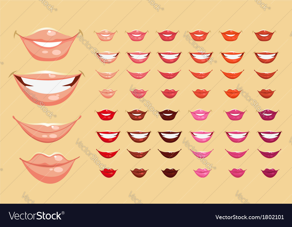 Color lips vector | Price: 3 Credit (USD $3)
