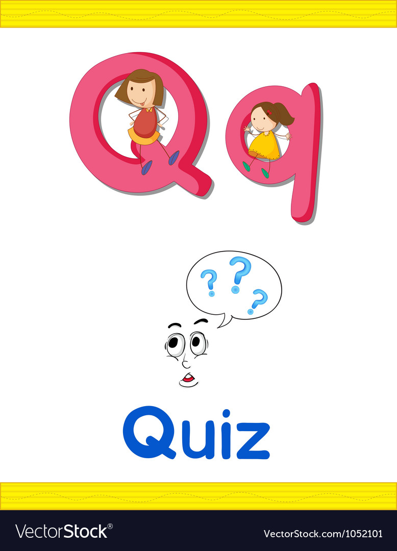 Learning alphabet q vector | Price: 1 Credit (USD $1)