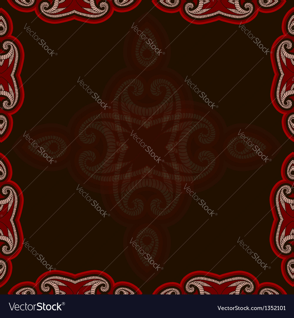 Oriental pattern in red and black colors vector | Price: 1 Credit (USD $1)