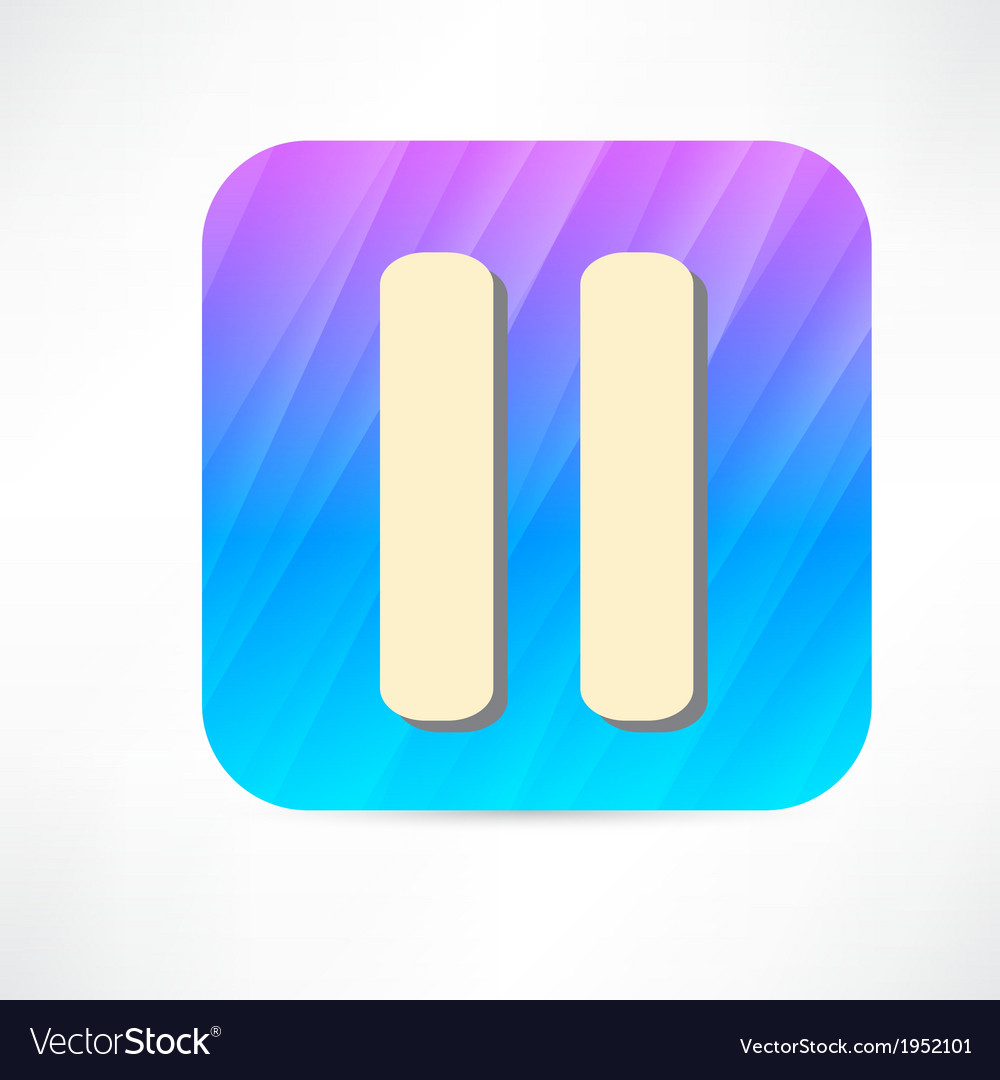 Pause icon vector   Price: 1 Credit (USD $1)