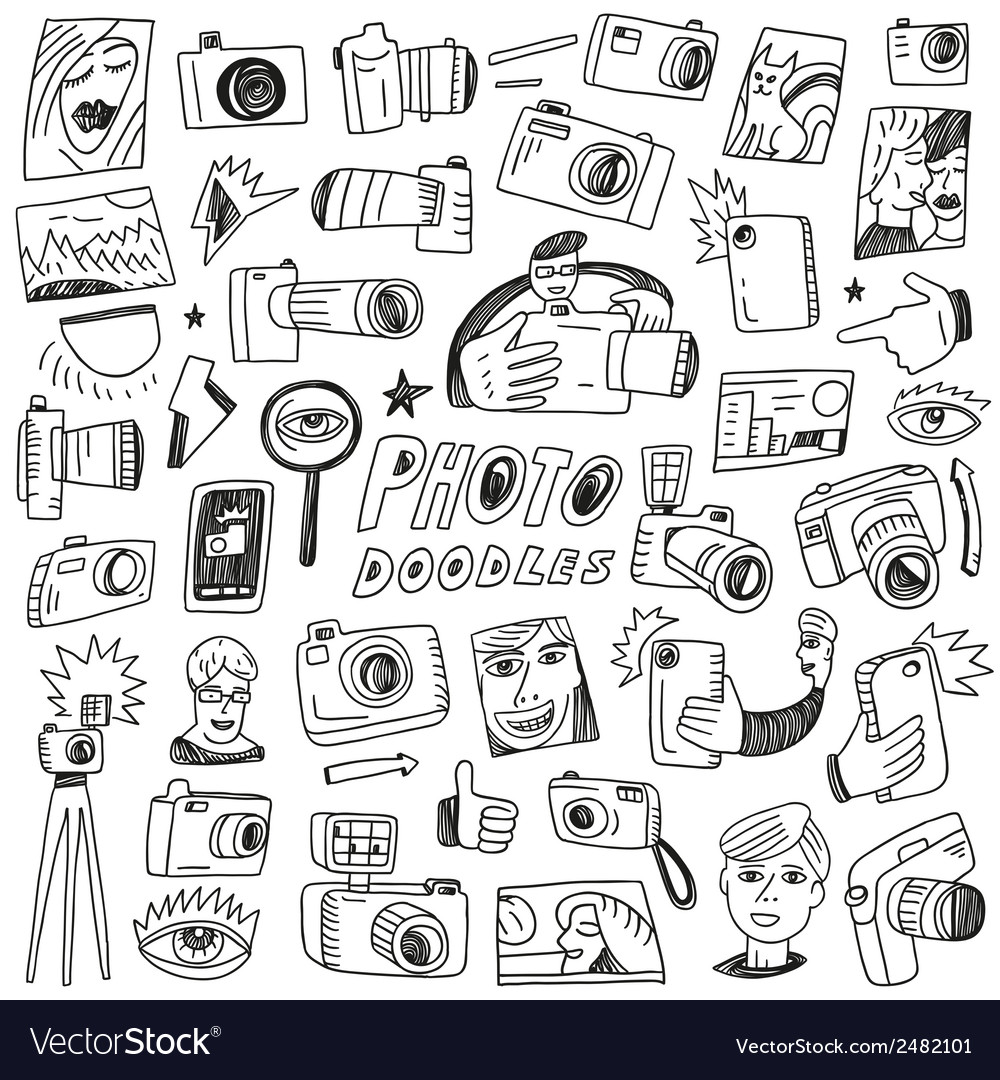 Photography doodles vector | Price: 1 Credit (USD $1)