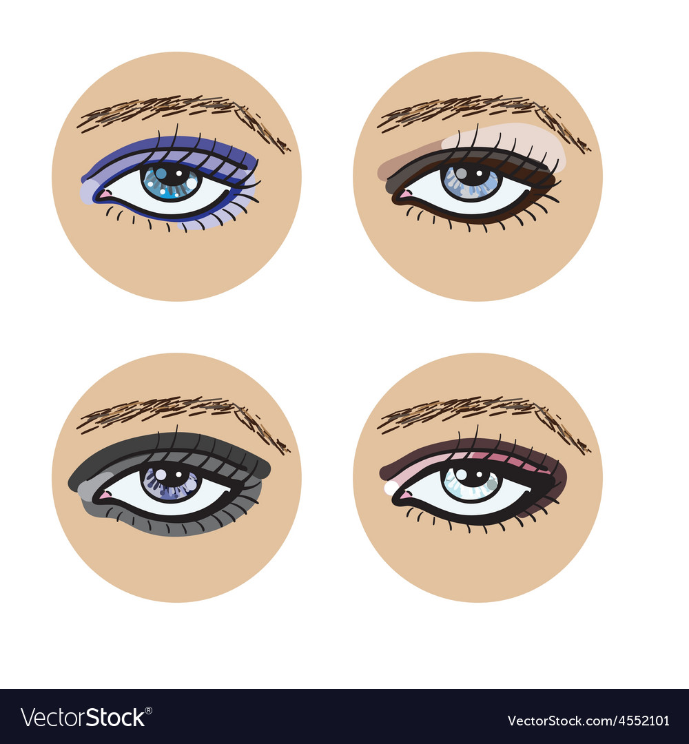Set of beautiful female eyes vector | Price: 1 Credit (USD $1)