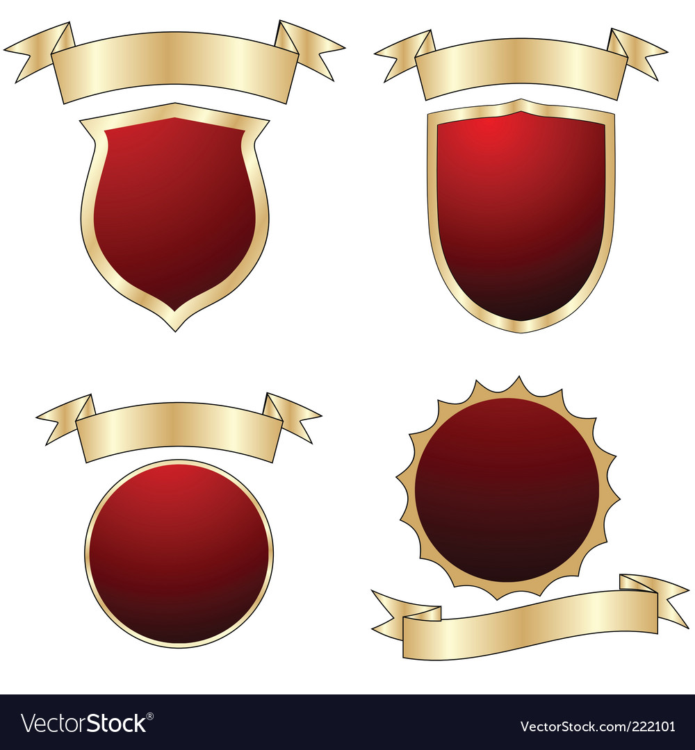Shields collection vector | Price: 1 Credit (USD $1)
