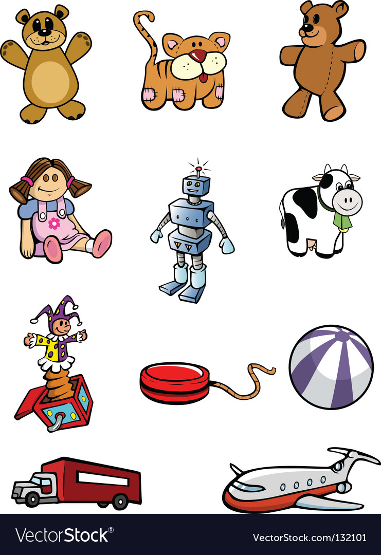 Toys collection vector | Price: 1 Credit (USD $1)