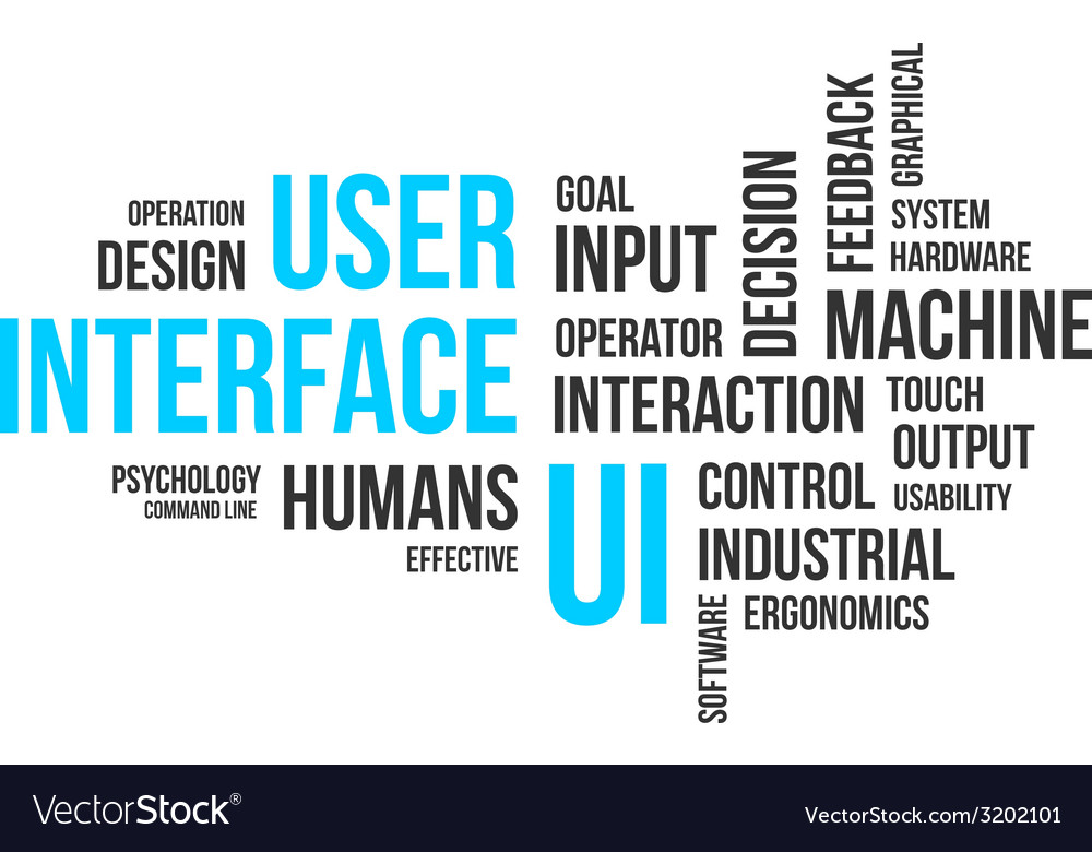 Word cloud user interface vector | Price: 1 Credit (USD $1)