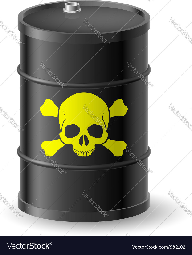 Barrel with poisonous substances vector | Price: 3 Credit (USD $3)
