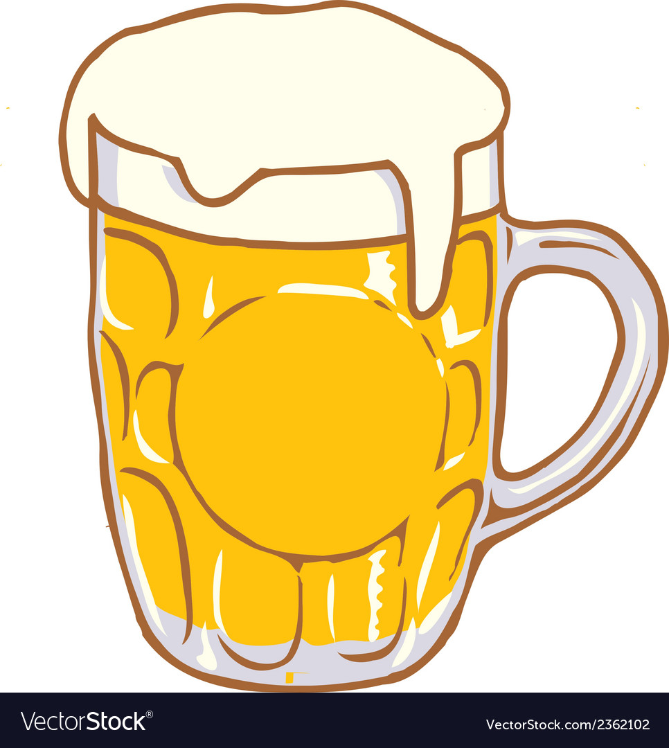 Beer mug pint clipart design d vector | Price: 1 Credit (USD $1)