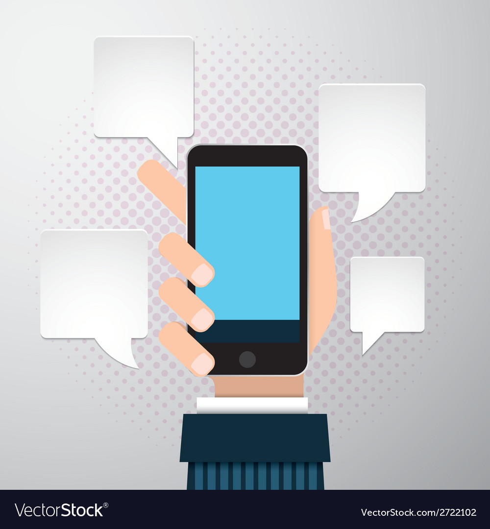 Businessman hands using mobile phone vector | Price: 1 Credit (USD $1)