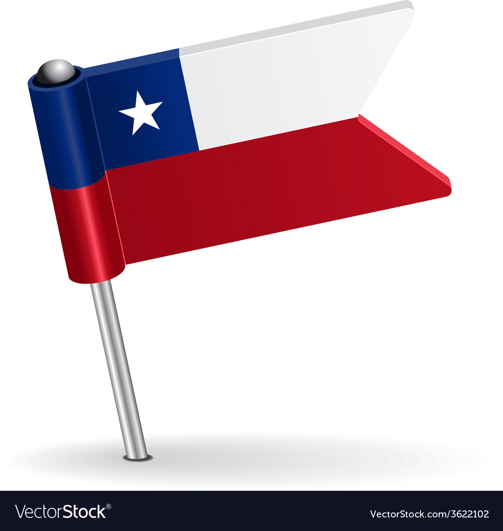 Chilean pin icon flag vector | Price: 1 Credit (USD $1)