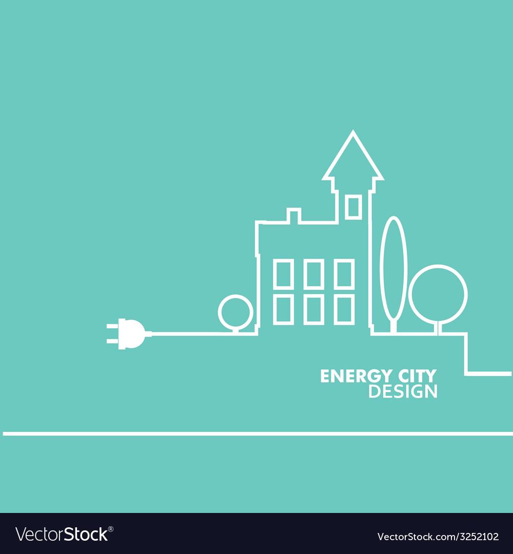 Concept electric circuit city flat design vector | Price: 1 Credit (USD $1)