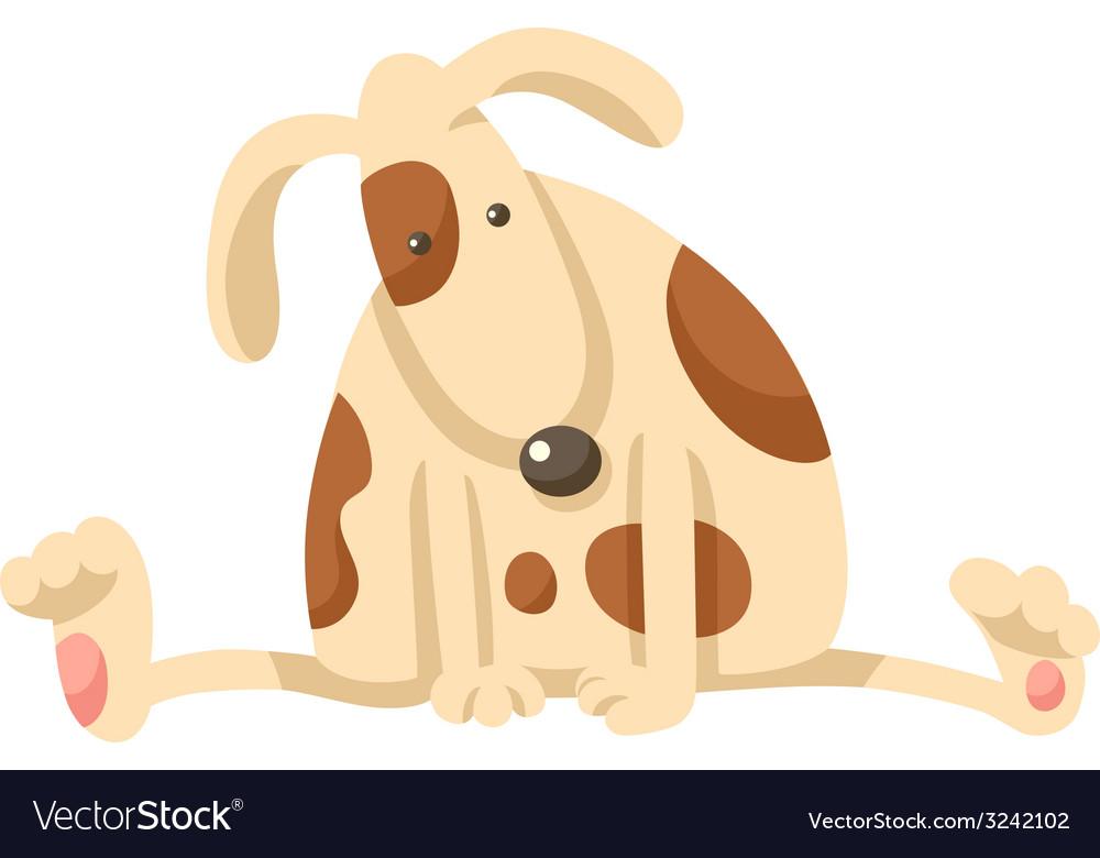 Cute puppy dog cartoon vector | Price: 1 Credit (USD $1)