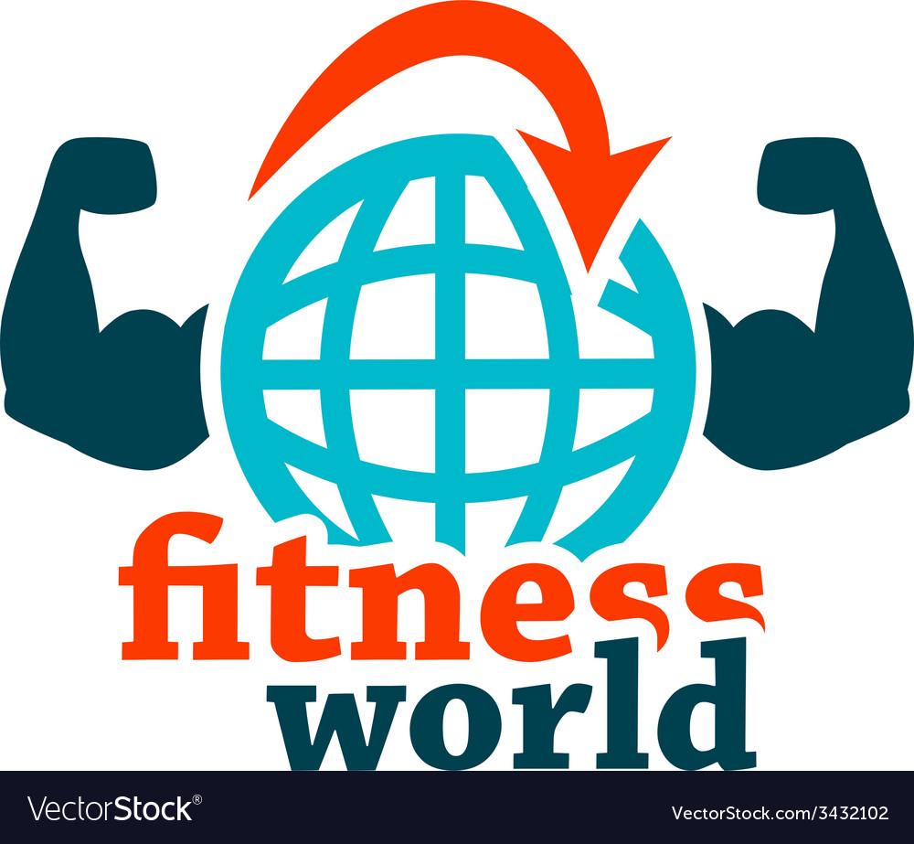 Fitness world icon vector | Price: 1 Credit (USD $1)
