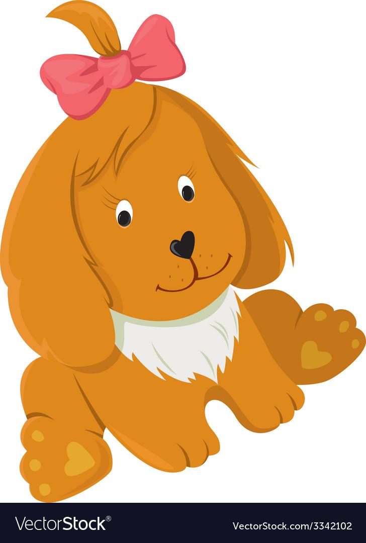 Friendly happy dog vector | Price: 1 Credit (USD $1)
