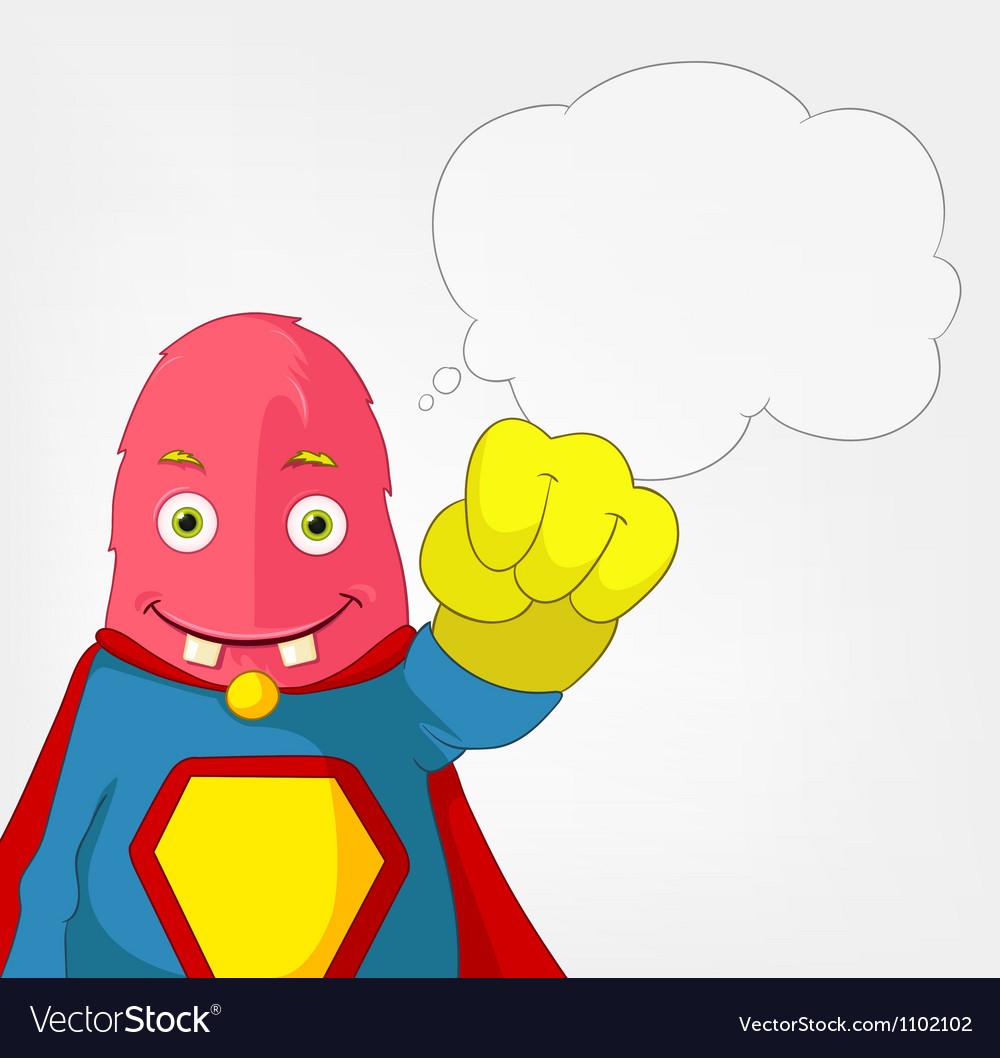 Funny monster super hero vector | Price: 3 Credit (USD $3)