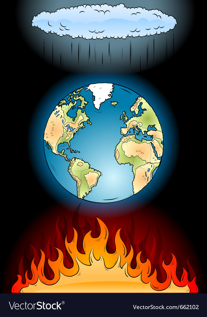 Global warming on the black vector | Price: 1 Credit (USD $1)