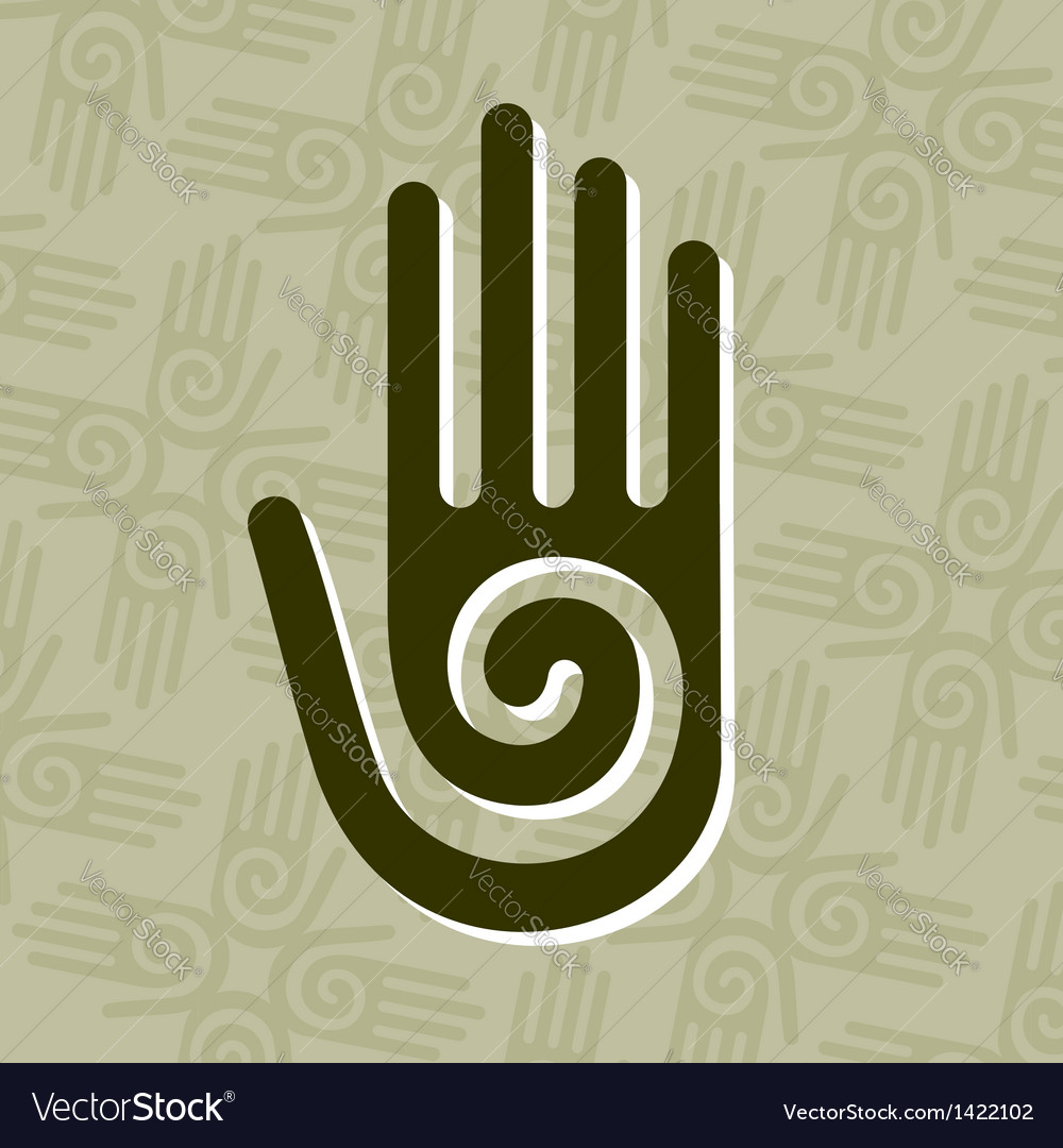 Hand with spiral symbol vector | Price: 1 Credit (USD $1)