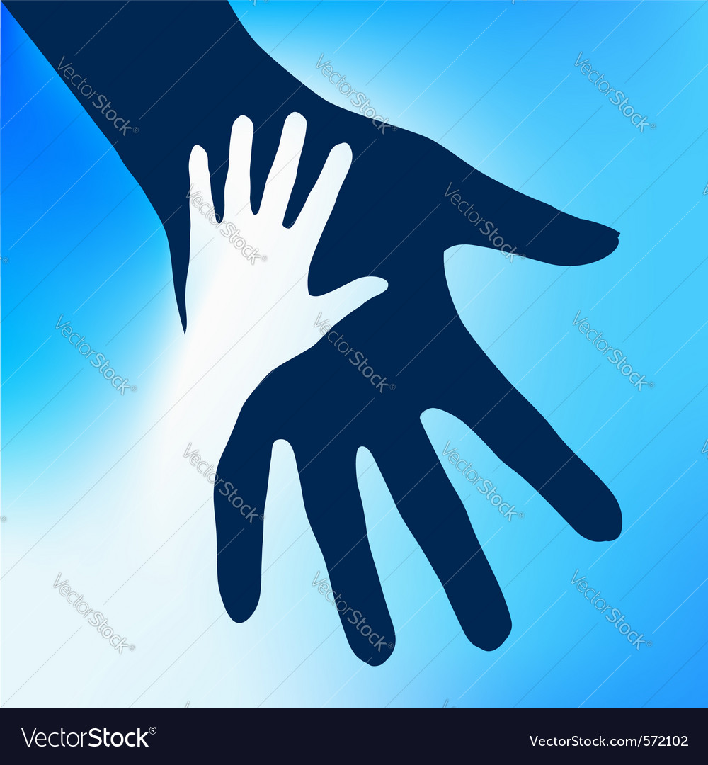 Helping hands child vector | Price: 1 Credit (USD $1)